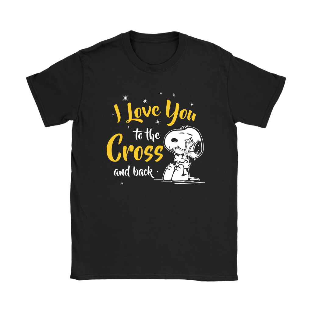 I Love You To The Cross And Back Snoopy Shirts 7