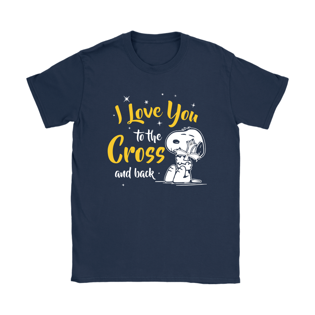 I Love You To The Cross And Back Snoopy Shirts 9