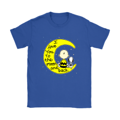 I Love You To The Moon And Back Charlie Brown And Snoopy Shirts 22