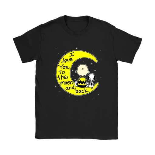 I Love You To The Moon And Back Charlie Brown And Snoopy Shirts 7