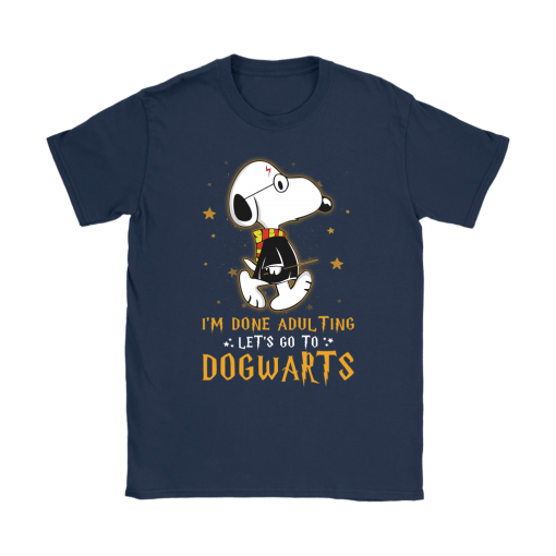 I'm Done Adulting Let's Go Dogwarts Harry Potter Snoopy Shirts 9