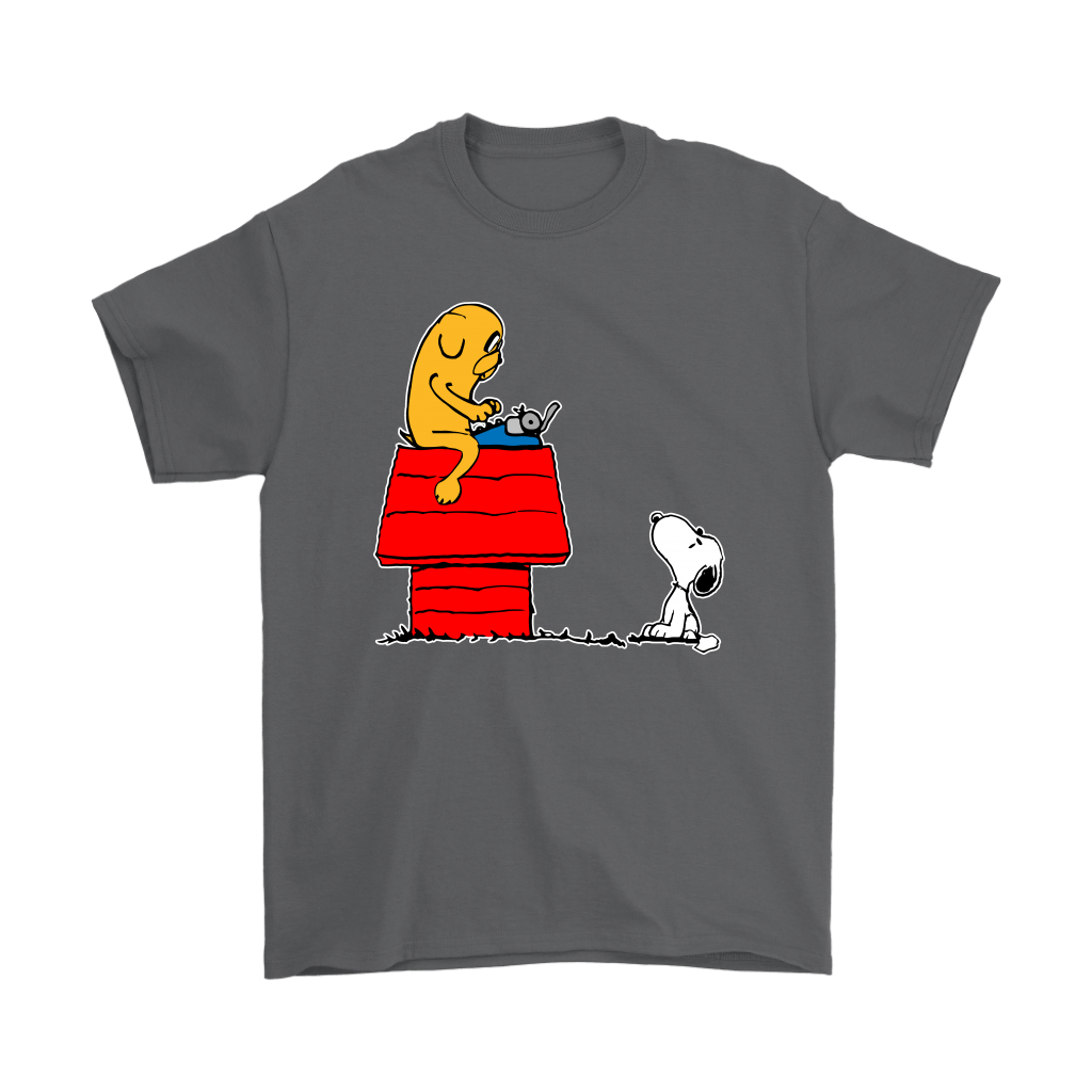 Jake And Snoopy Adventure Time Mashup Shirts 15