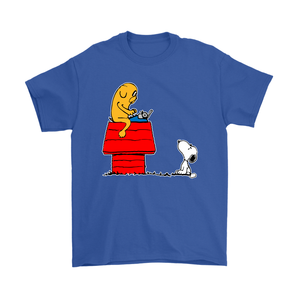 Jake And Snoopy Adventure Time Mashup Shirts 5