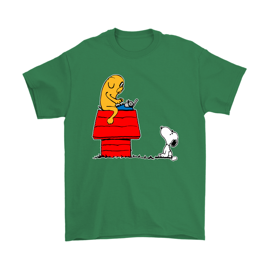 Jake And Snoopy Adventure Time Mashup Shirts 7