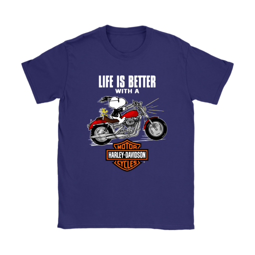 Joe Cool Life Is Better With A Harley Davidson Snoopy Shirts 11