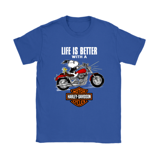 Joe Cool Life Is Better With A Harley Davidson Snoopy Shirts 12