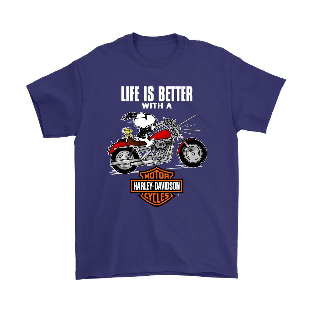 Joe Cool Life Is Better With A Harley Davidson Snoopy Shirts 4