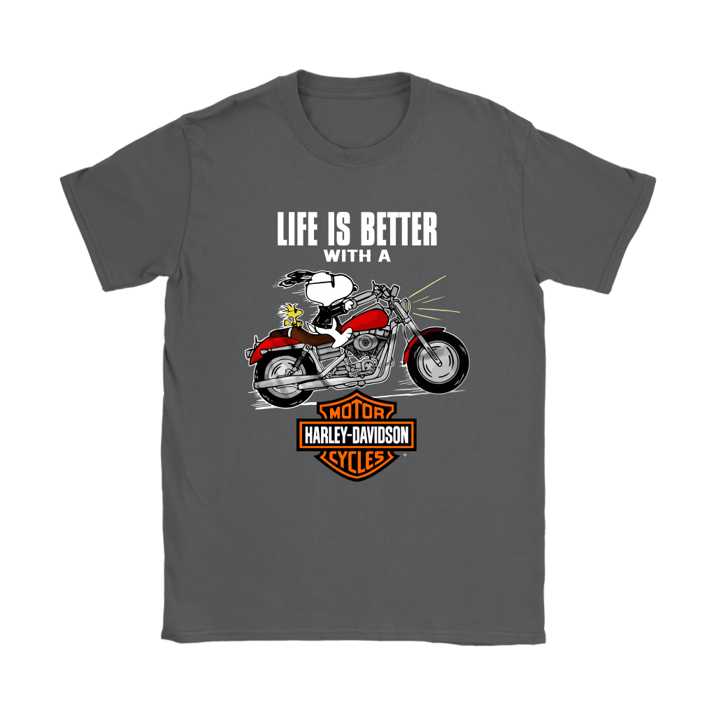 Joe Cool Life Is Better With A Harley Davidson Snoopy Shirts 9