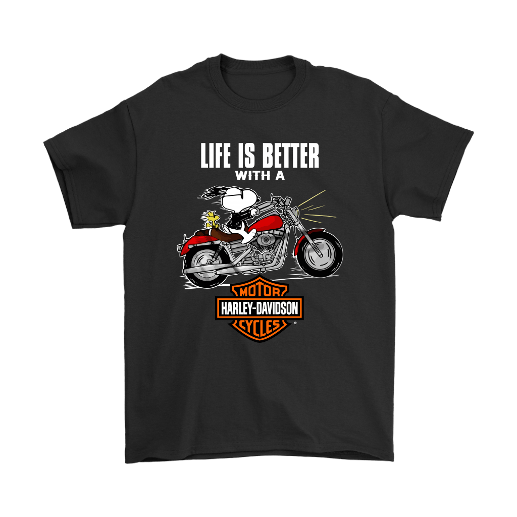 Joe Cool Life Is Better With A Harley Davidson Snoopy Shirts 1