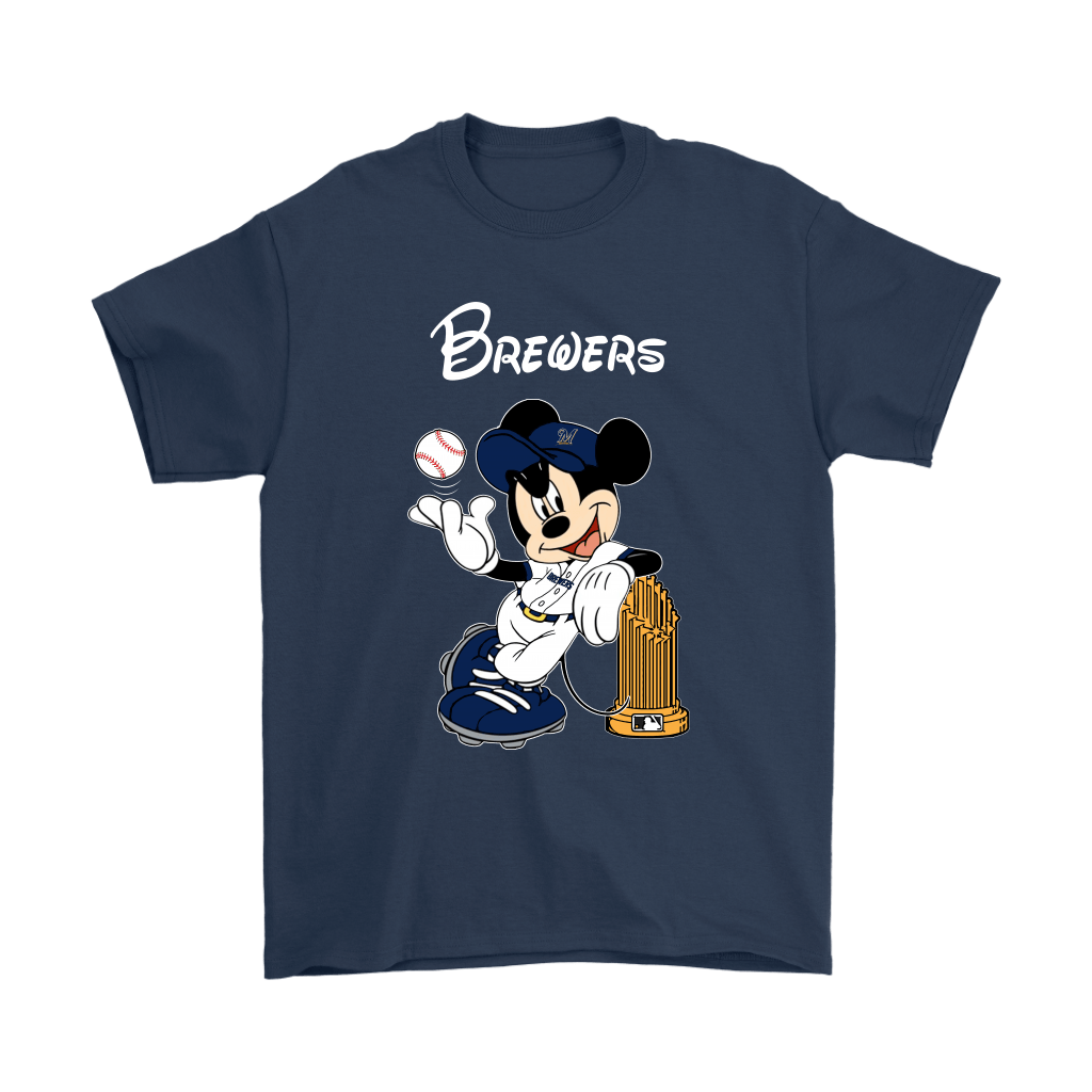 Milwaukee Brewers Mickey Taking The Trophy MLB 2018 Shirts 3