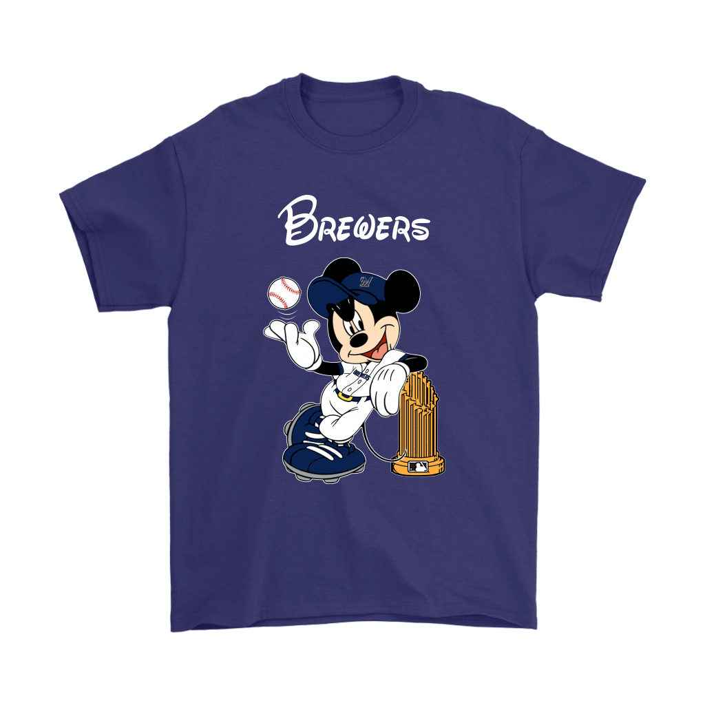 Milwaukee Brewers Mickey Taking The Trophy MLB 2018 Shirts 4