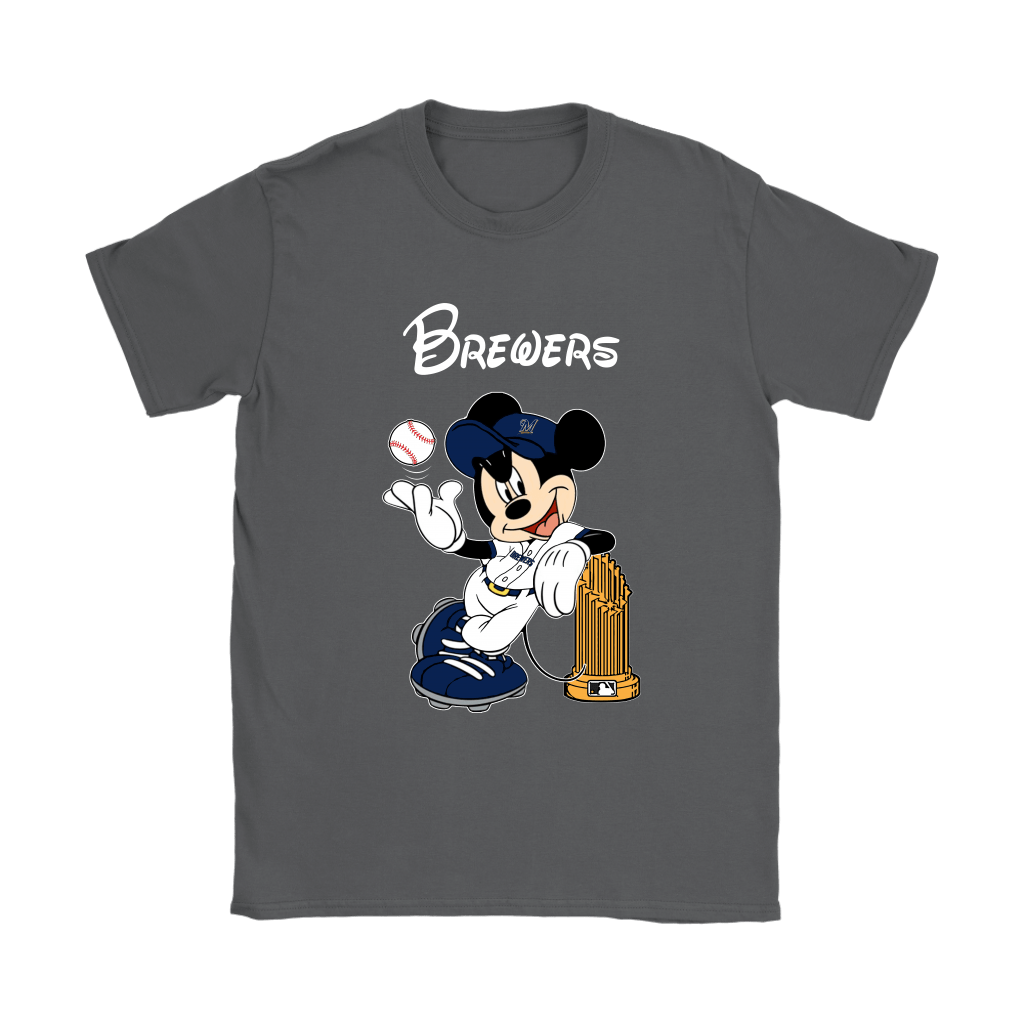Milwaukee Brewers Mickey Taking The Trophy MLB 2018 Shirts 9