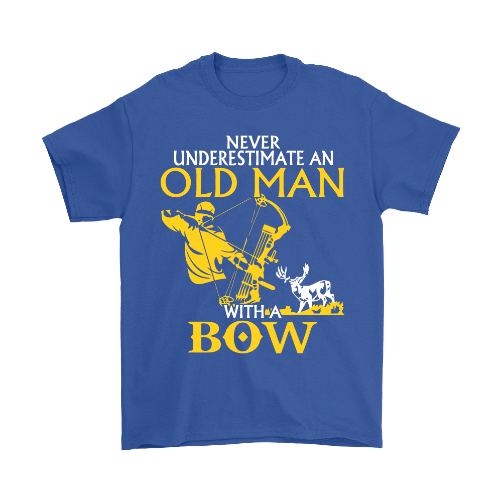 Never Underestimate An Old Man With A Bow Shirts 6