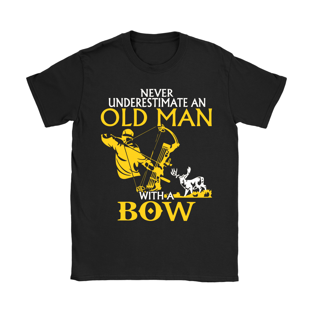 Never Underestimate An Old Man With A Bow Shirts 7