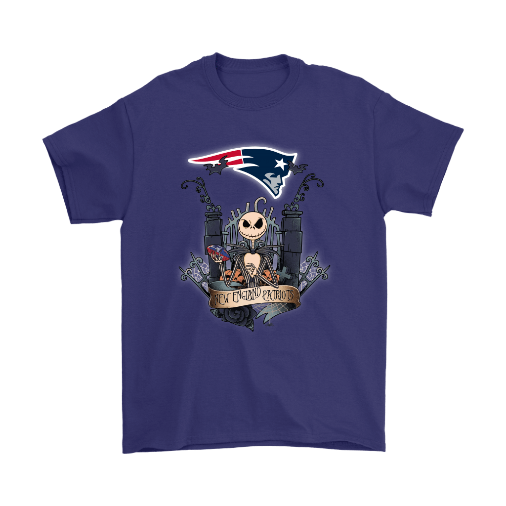 New England Patriots Jack Skellington This Is Halloween NFL Shirts 4
