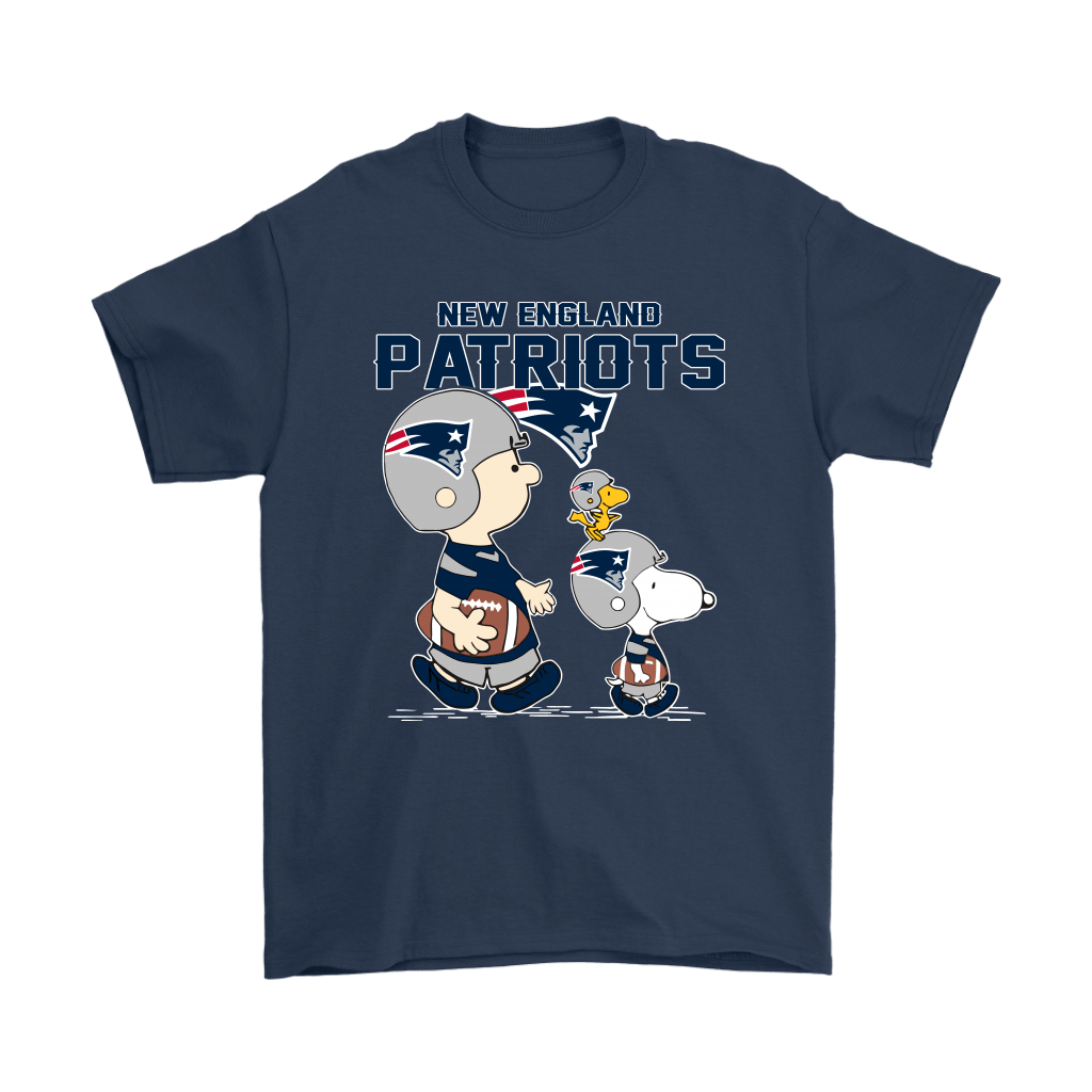 New England Patriots Let's Play Football Together Snoopy NFL Shirts 3