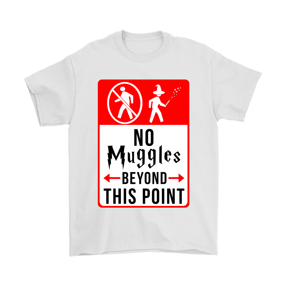 a0bd87e95 No Muggles Beyond This Point Funny Harry Potter Shirts - TeexTee Store