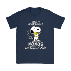 Only Awesome Nanas Get Hugged A Lot Snoopy Shirts 18