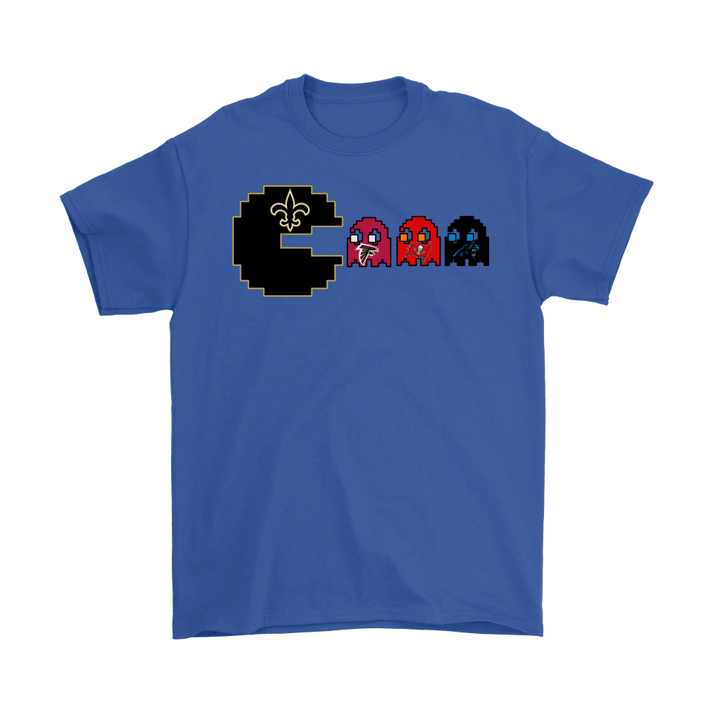 best service 9c014 7f59a Pacman - American Football New Orleans Saints Shirts