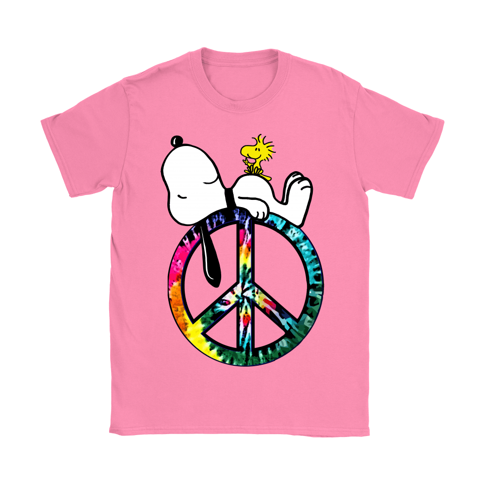 Peace And Love Hippie Style Sleeping Snoopy Shirts 10