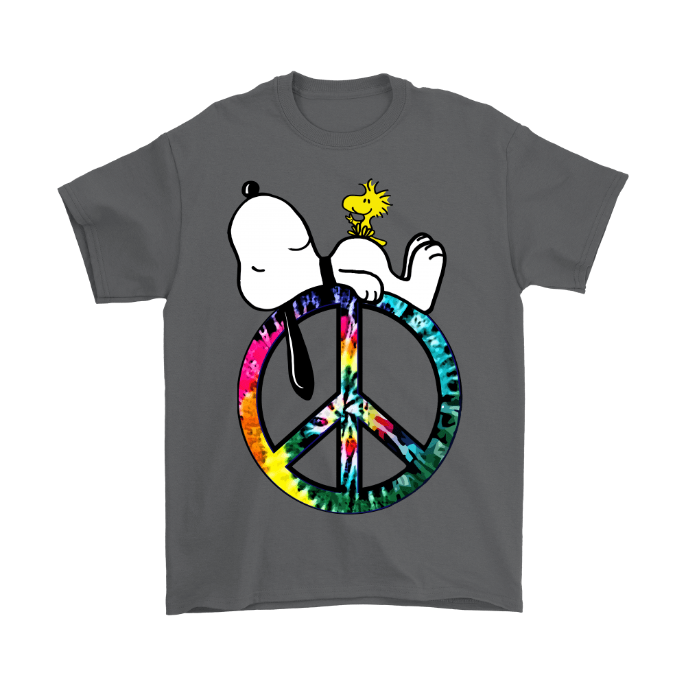 Peace And Love Hippie Style Sleeping Snoopy Shirts 2