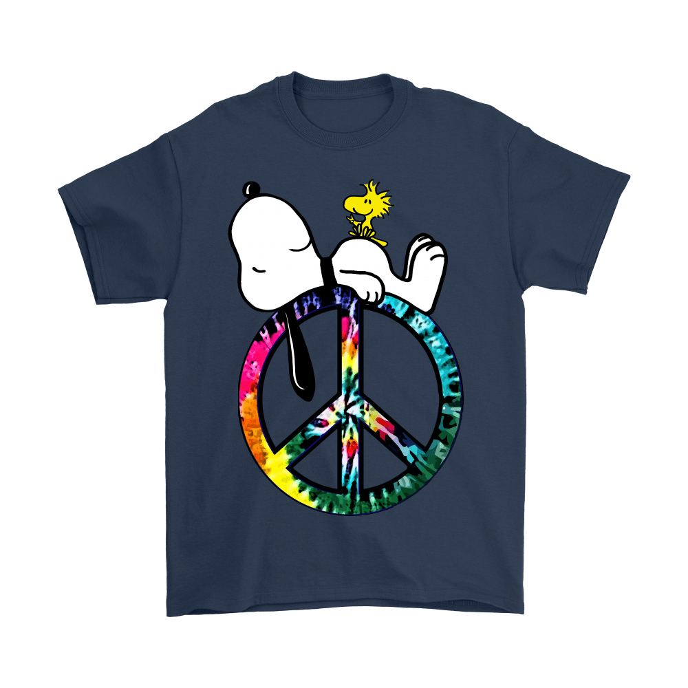 Peace And Love Hippie Style Sleeping Snoopy Shirts 3