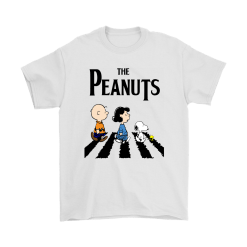 Peanuts In Abbey Road The Beatles Mashup Snoopy Shirts 5