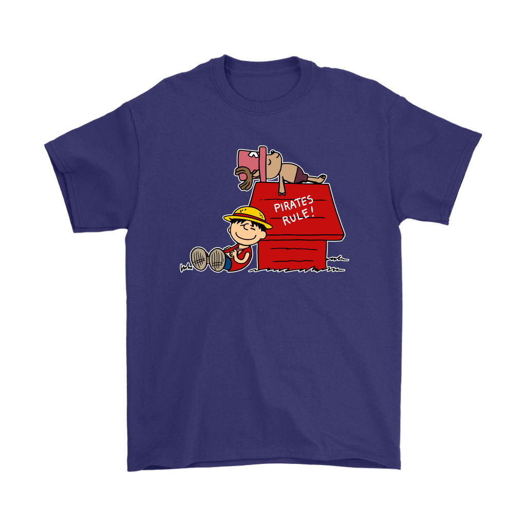 Pirates Rule One Piece Mashup Snoopy Shirts 4