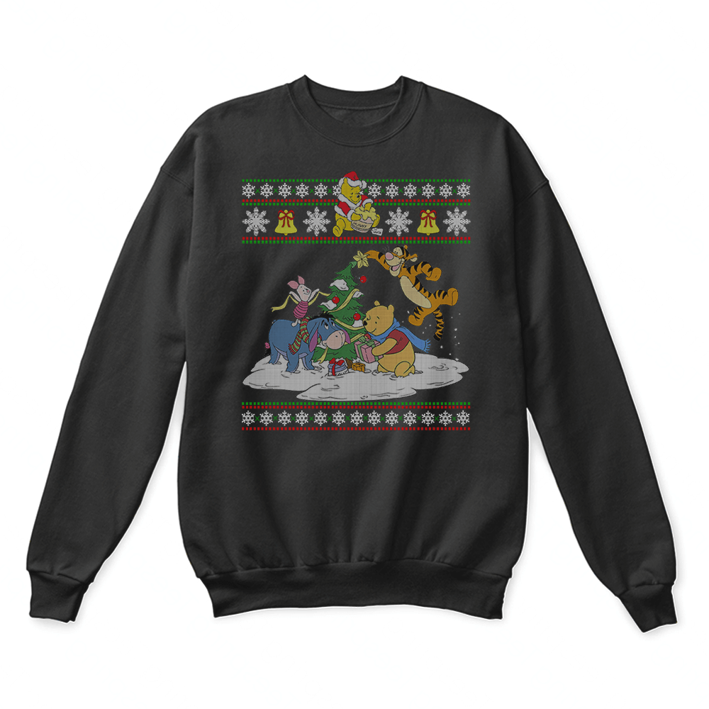 Pooh And Friends Winnie The Pooh Ugly Christmas Sweater 1