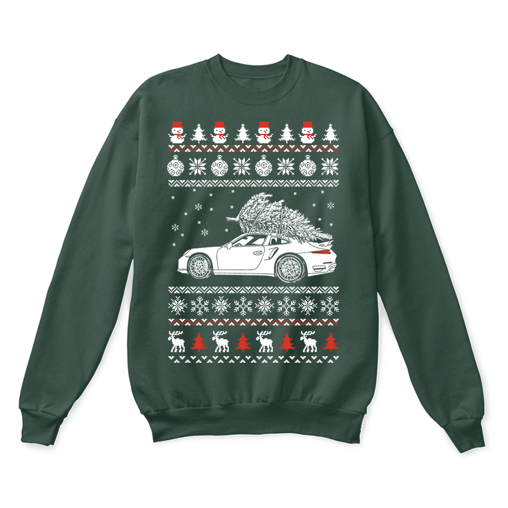 Porsche 911 Brings Christmas Home Ugly Sweater 2