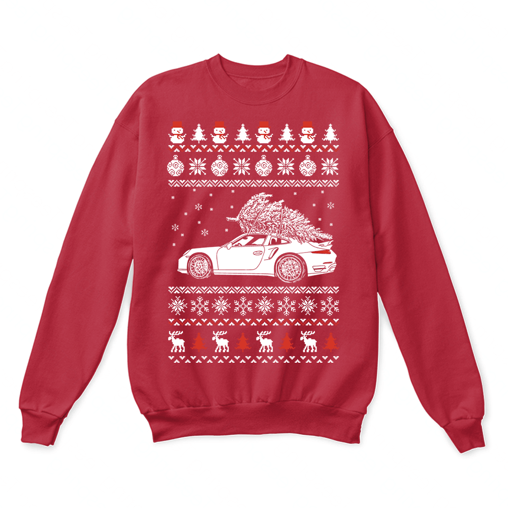Porsche 911 Brings Christmas Home Ugly Sweater 7