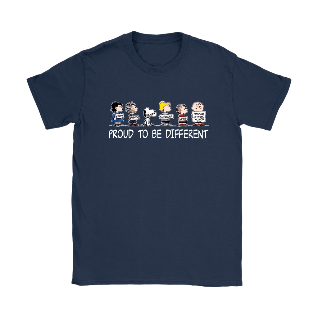 Proud To Be Different Charlie Brown Snoopy Shirts 9