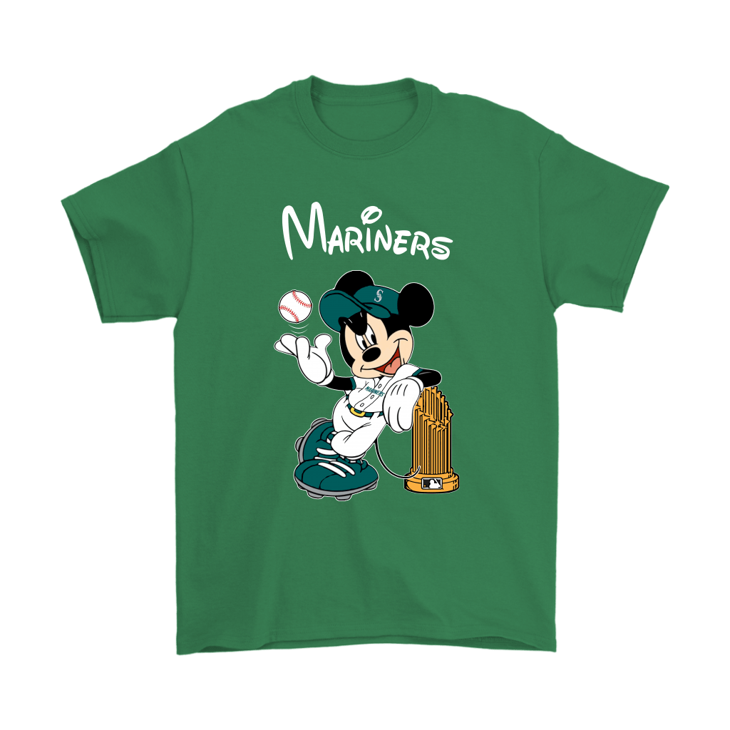 Seattle Mariners Mickey Taking The Trophy MLB 2018 Shirts 7