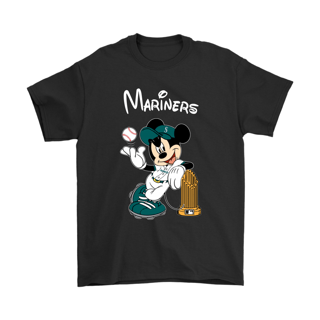 Seattle Mariners Mickey Taking The Trophy MLB 2018 Shirts 1