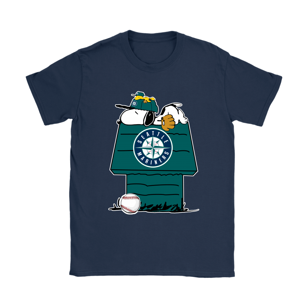 Seattle Mariners Snoopy And Woodstock Resting Together MLB Shirts 10
