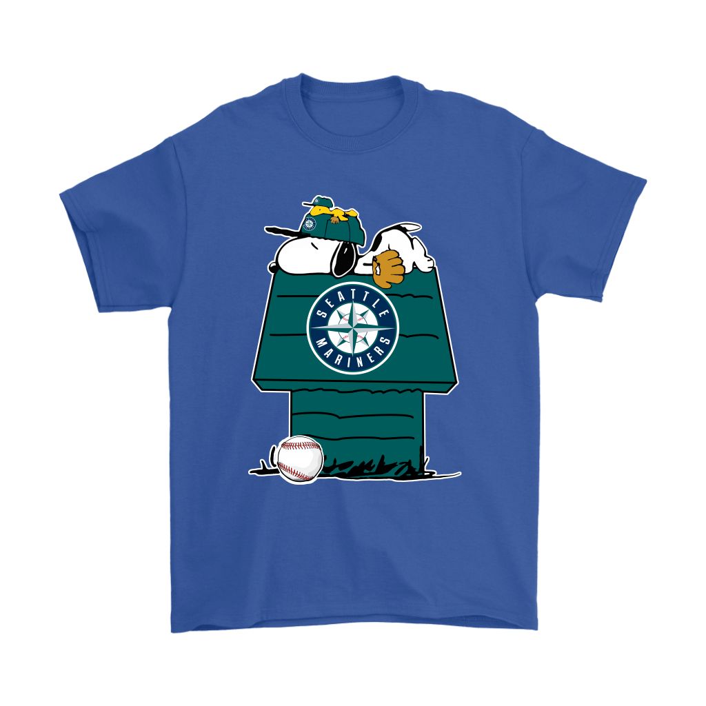 Seattle Mariners Snoopy And Woodstock Resting Together MLB Shirts 5