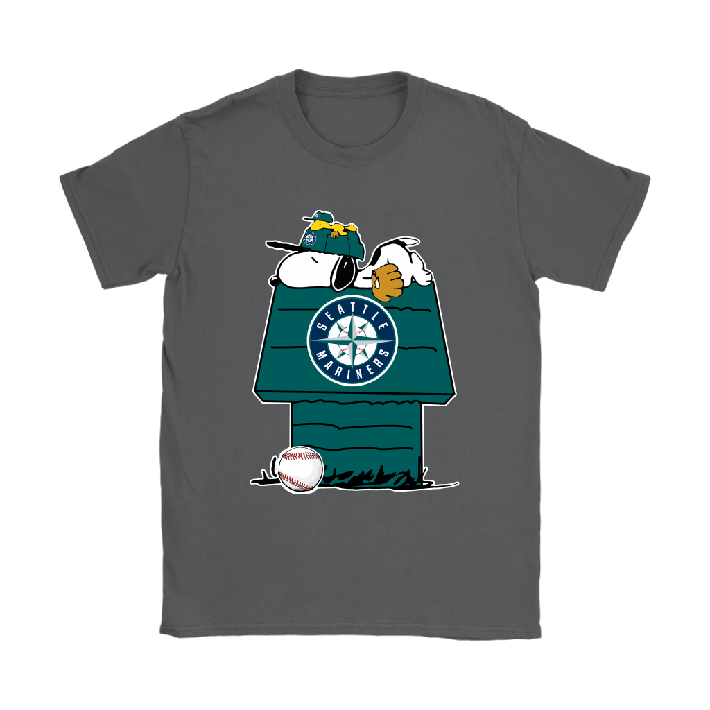 Seattle Mariners Snoopy And Woodstock Resting Together MLB Shirts 9