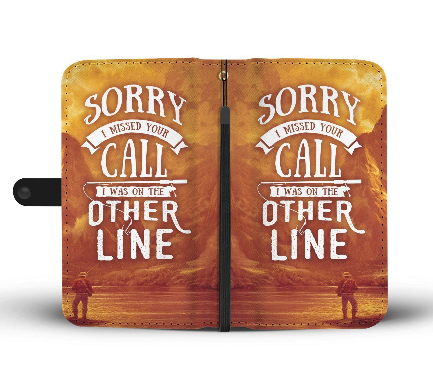 Sorry I Was On The Other Line Fishing Wallet Phone Case 2