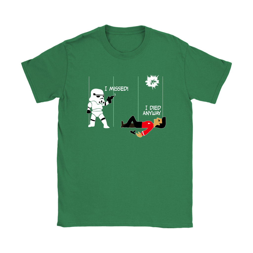 Star Wars Star Trek A Stormtrooper And A Redshirt In A Fight Shirts 12