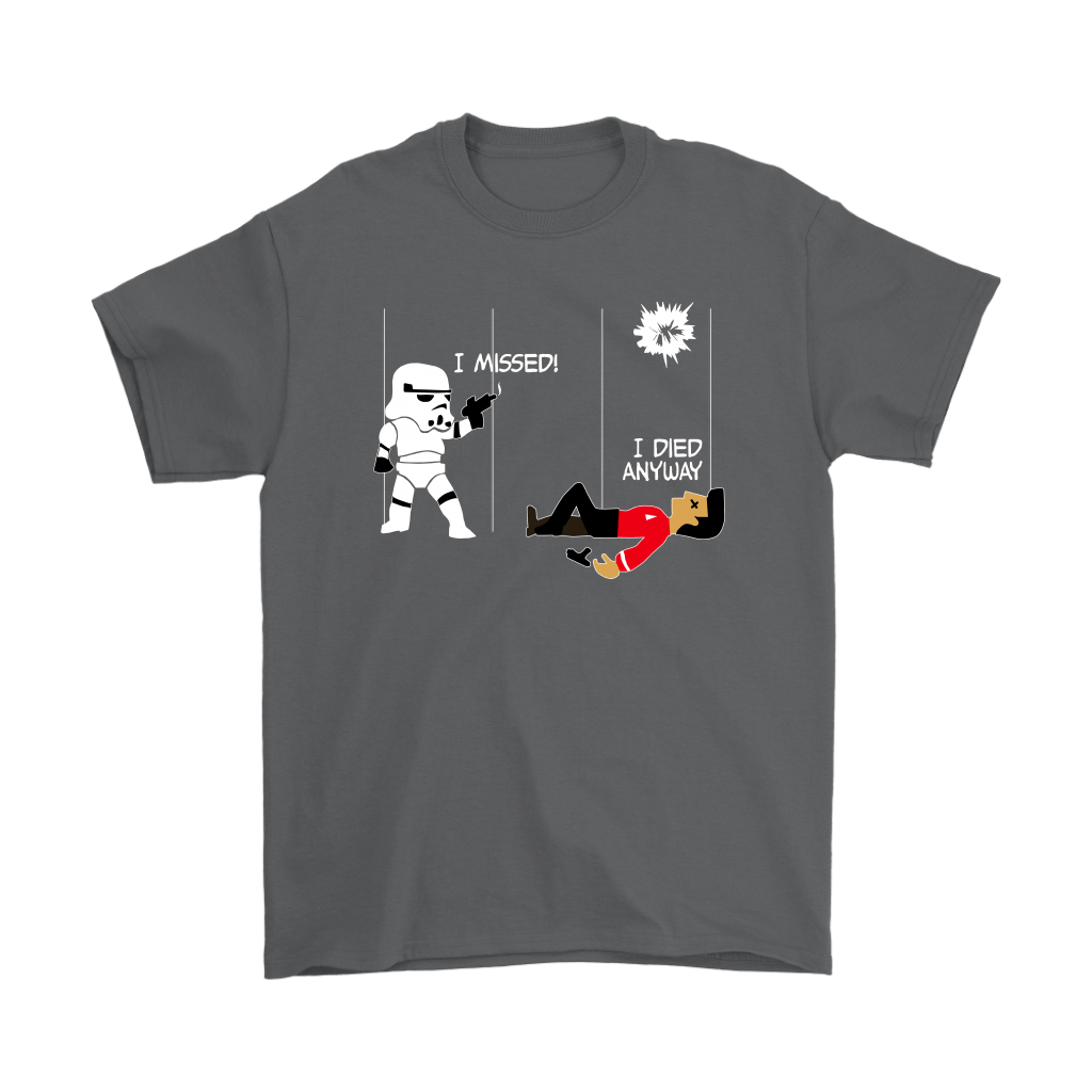 Star Wars Star Trek A Stormtrooper And A Redshirt In A Fight Shirts 2