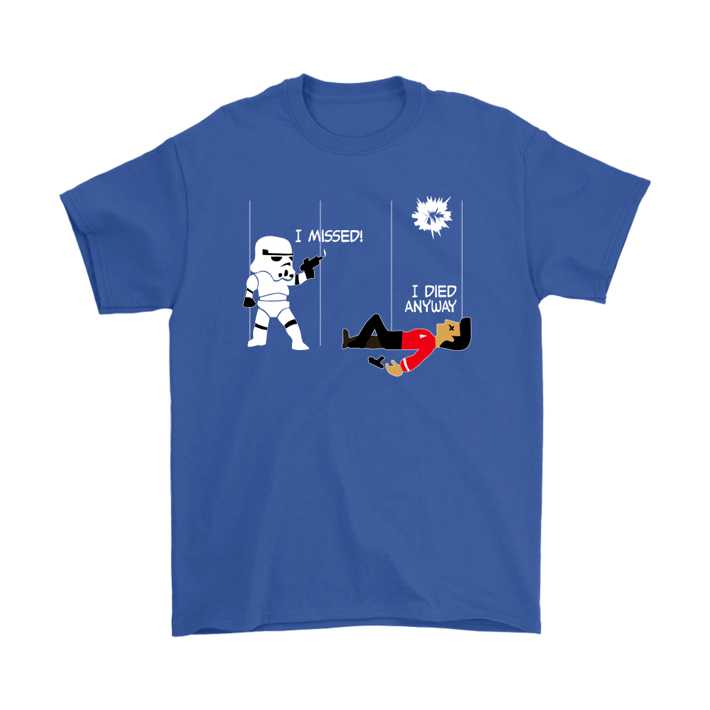 Star Wars Star Trek A Stormtrooper And A Redshirt In A Fight Shirts 5