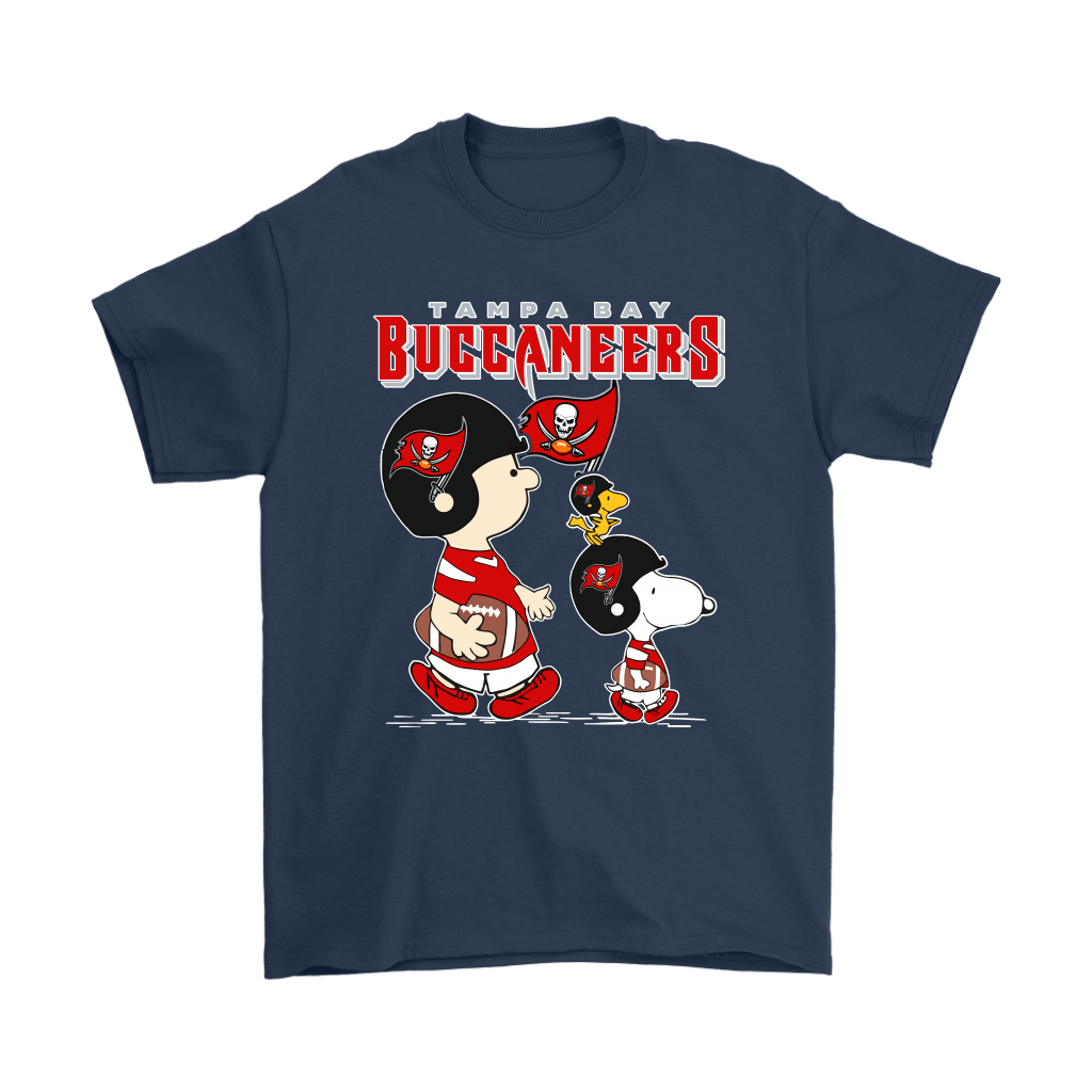 Tampa Bay Buccaneers Let's Play Football Together Snoopy NFL Shirts 3