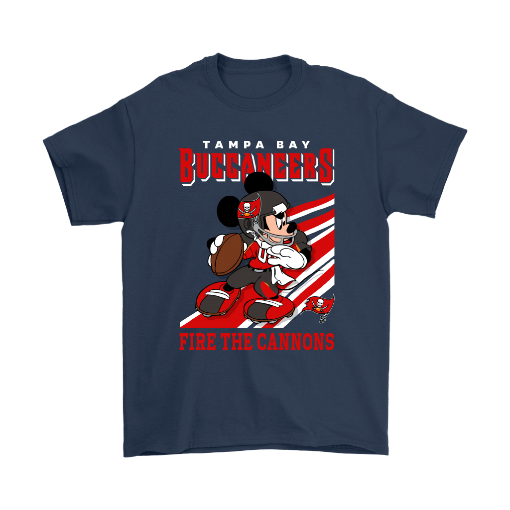Tampa Bay Buccaneers Slogan Fire The Cannons Mickey Mouse NFL Shirts 3