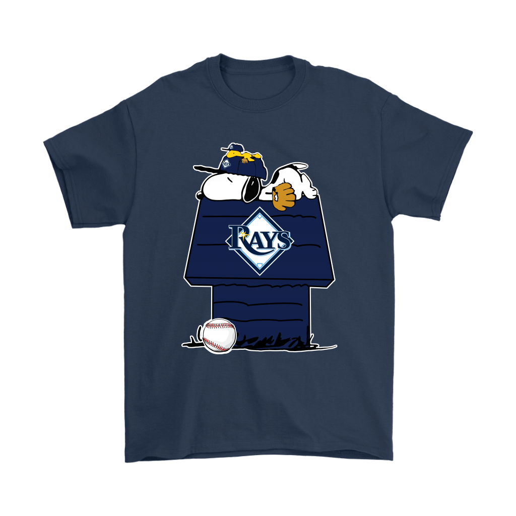 Tampa Bay Rays Snoopy And Woodstock Resting Together MLB Shirts 3