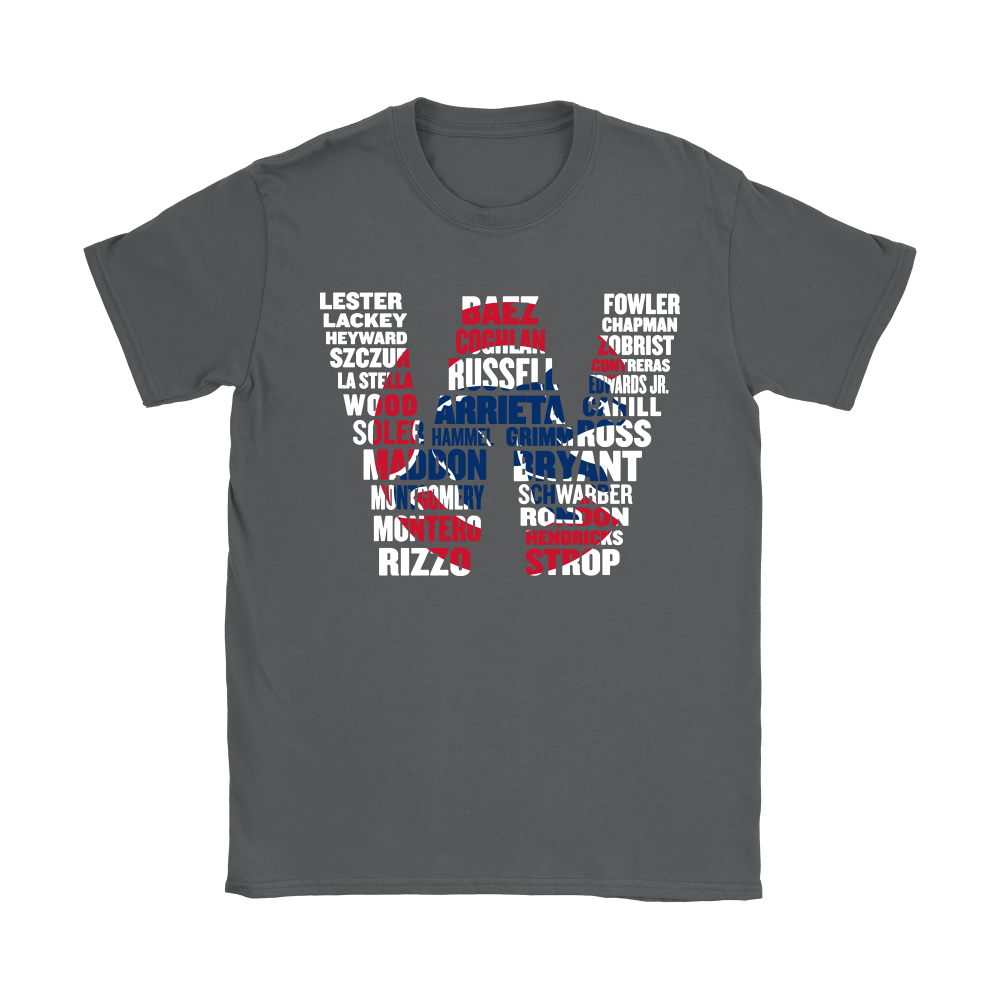 Team Chicago Cubs Players Name Puzzle Cubs Win MLB Shirts 8