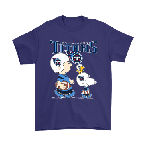 Tennessee Titans Let's Play Football Together Snoopy NFL Shirts 4