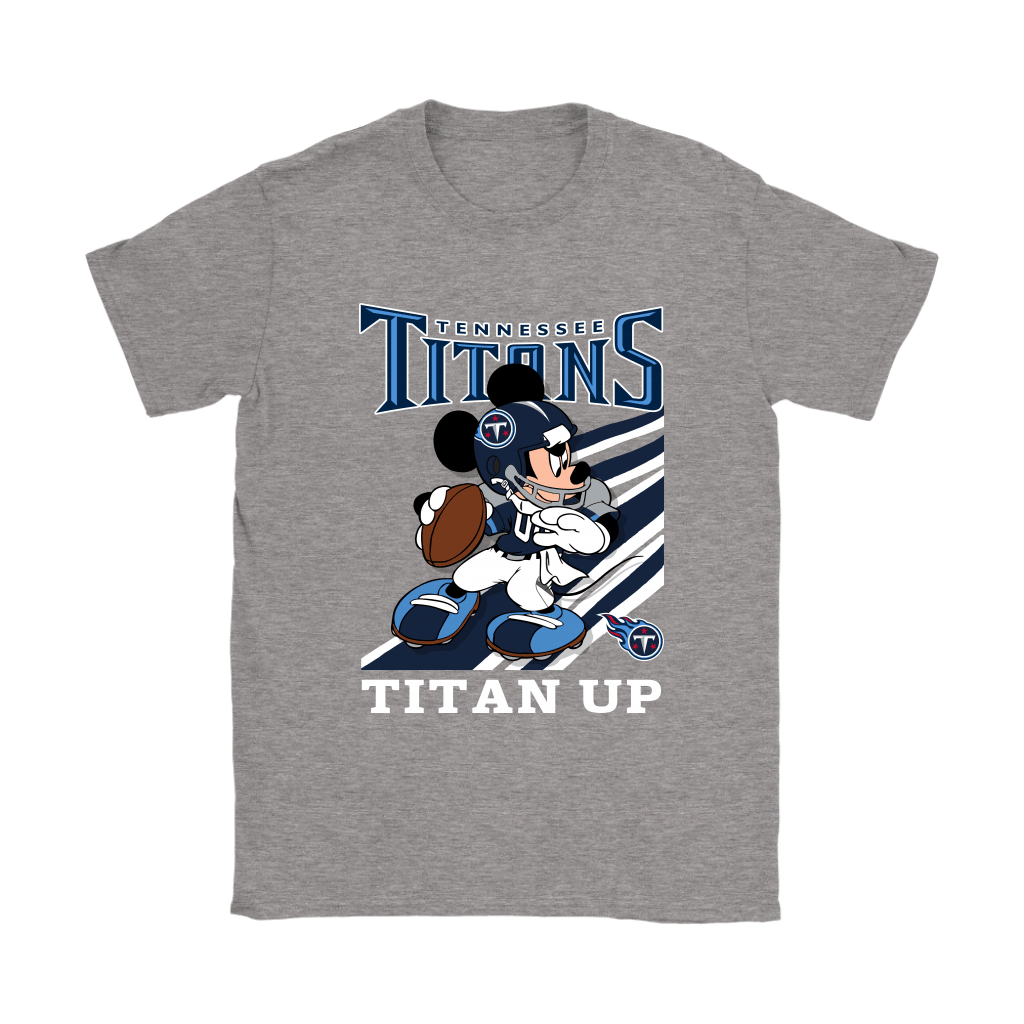 Tennessee Titans Slogan Titan Up Mickey Mouse NFL Shirts 14