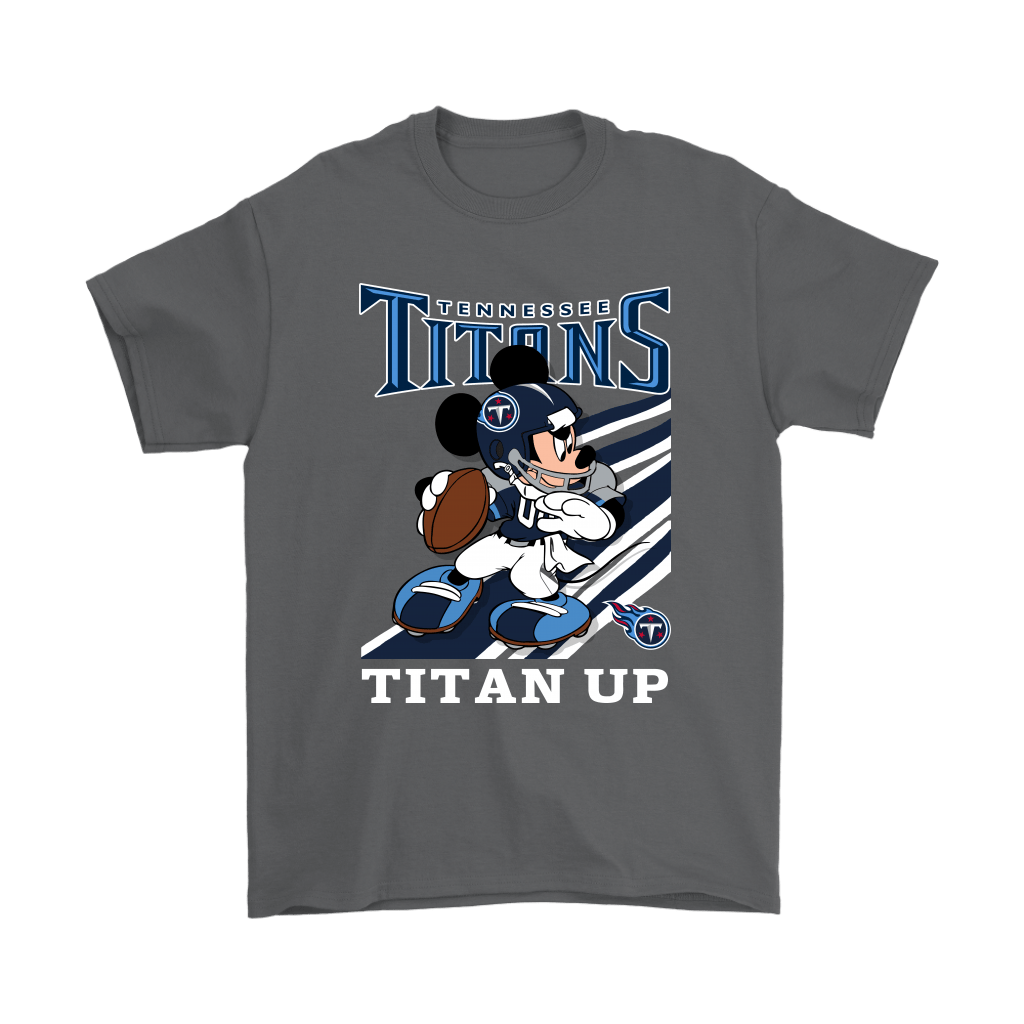 Tennessee Titans Slogan Titan Up Mickey Mouse NFL Shirts 2