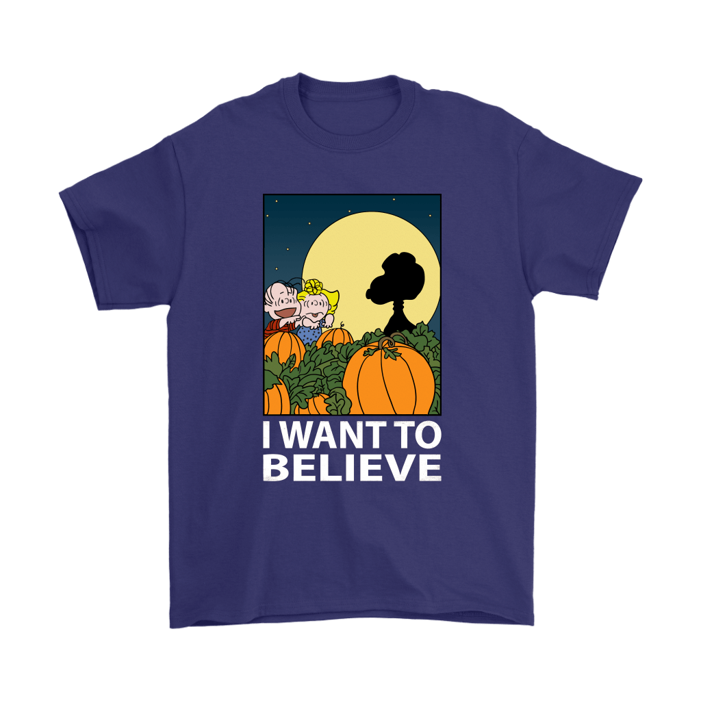 The Great Pumpkin I Want To Believe Halloween Snoopy Shirts 4
