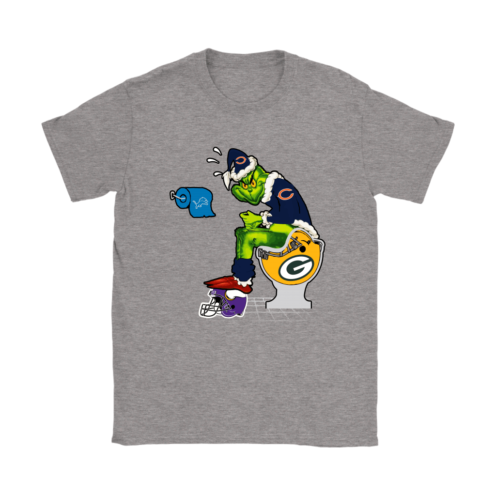 The Grinch Chicago Bears Shit On Other Teams Christmas Shirts 13